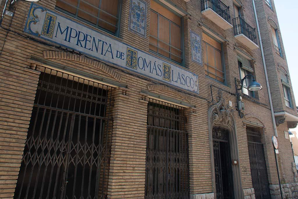 Aprobado el proyecto de la antigua Imprenta Blasco de Zaragoza