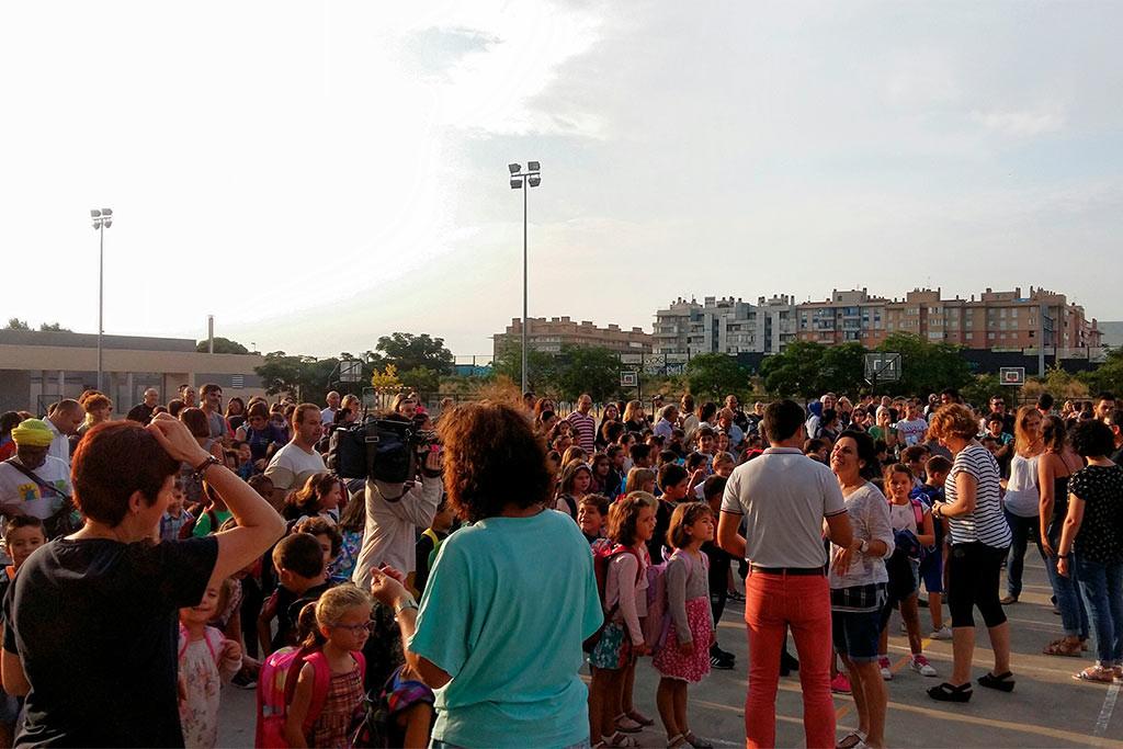 Menos escolares por clase y tres plataformas educativas que denuncian la política del Gobierno de Aragón