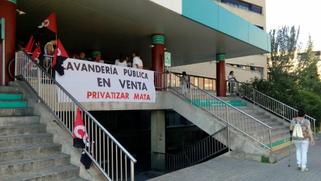Convocan movilizaciones en contra de la privatización del servicio de Lavandería del Hospital Clínico de Zaragoza