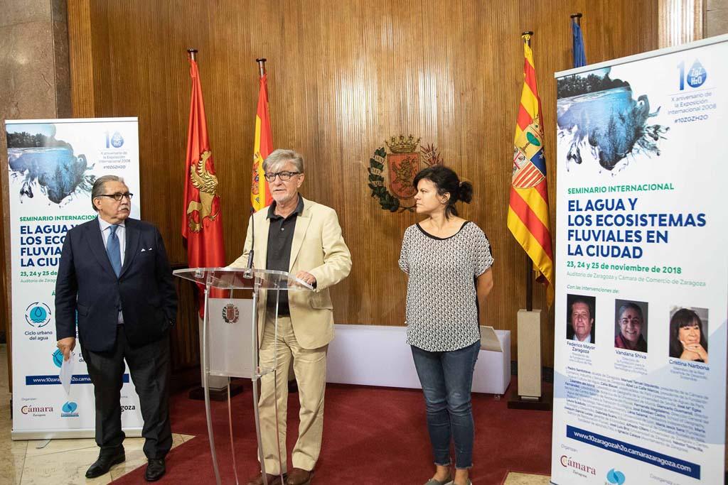 'El agua y los ecosistemas fluviales en la ciudad' centran el Seminario Internacional impulsado por Ayuntamiento, Cámara y Fundación Nueva Cultura del Agua