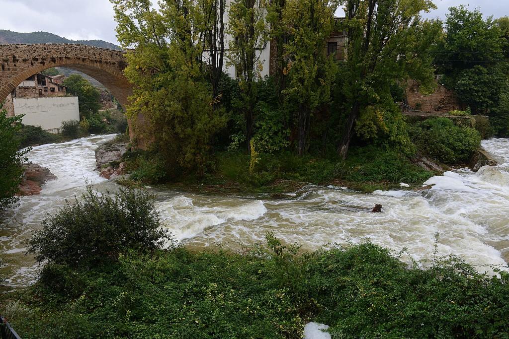 Matarranya y Baixo Aragón, las comarcas más afectadas por la intensas lluvias