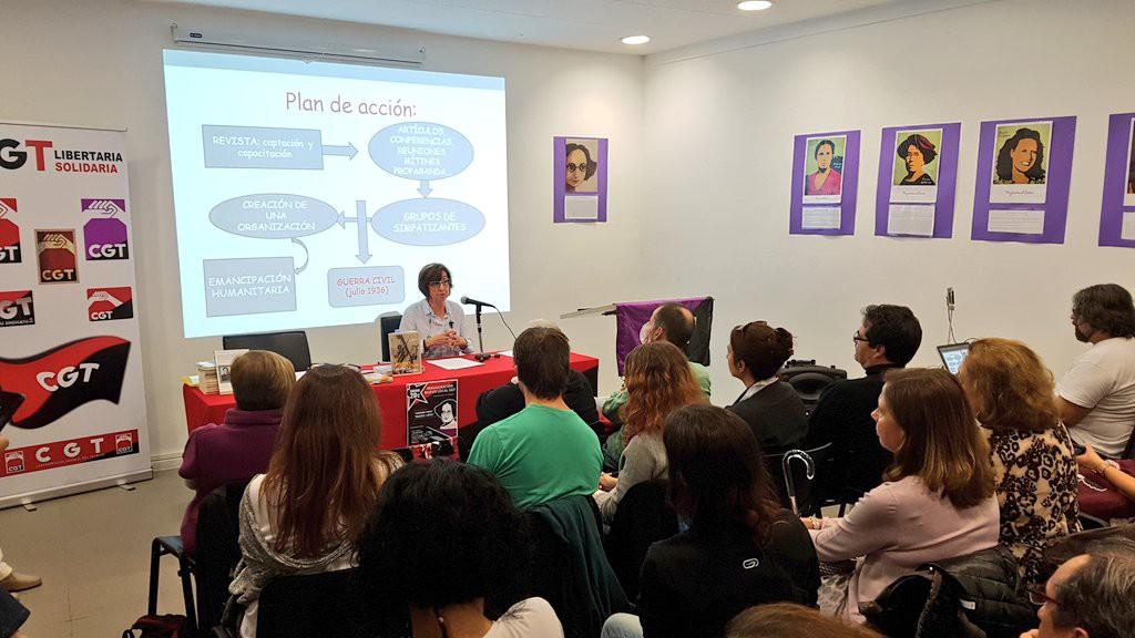 CGT inaugura nueva sede en Zaragoza con un homenaje a Amparo Poch