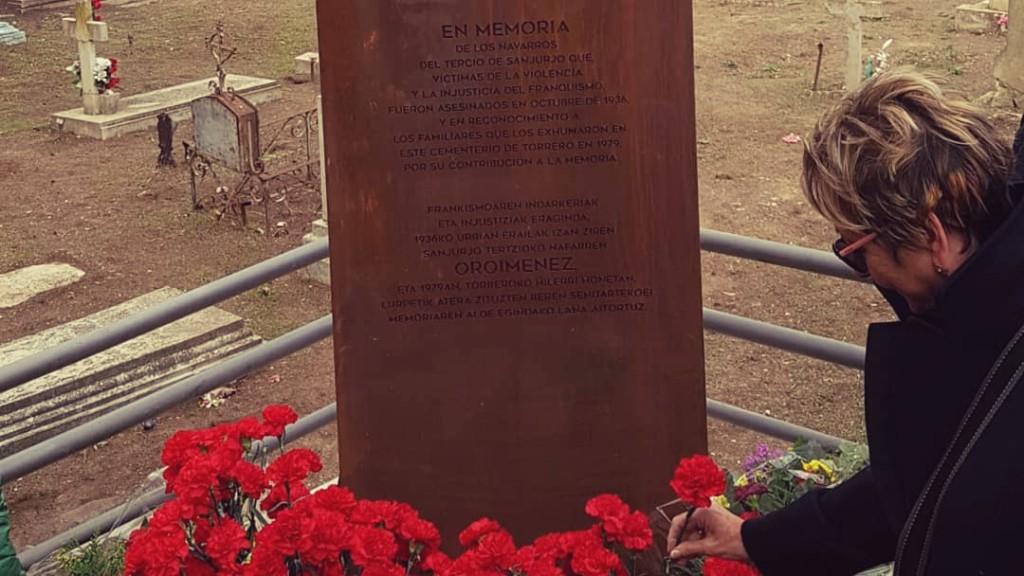Zaragoza rinde homenaje a los 225 navarros del Tercio de Sanjurjo, fusilados por el fascismo en 1936, y a sus familiares
