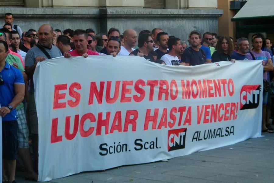 Desconvocada la huelga en Alumalsa al aceptar la empresa todas las exigencias de la sección sindical de la CNT y del Comité