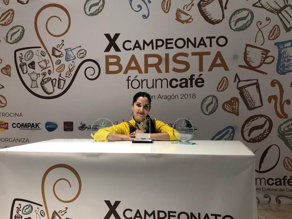 Andreea Duti, mejor barista de Aragón 2018