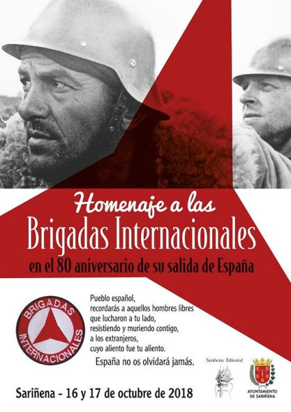 Brigadas Internacionales homenaje Sarinyena
