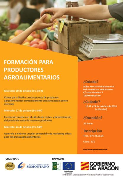 Cartel formación productores SOMONTANO