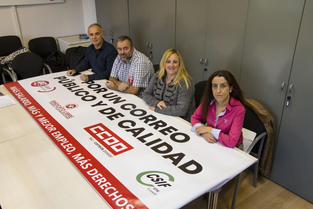CCOO, UGT, CSIF y Sindicato Libre convocarán a la plantilla de Correos a nuevas movilizaciones