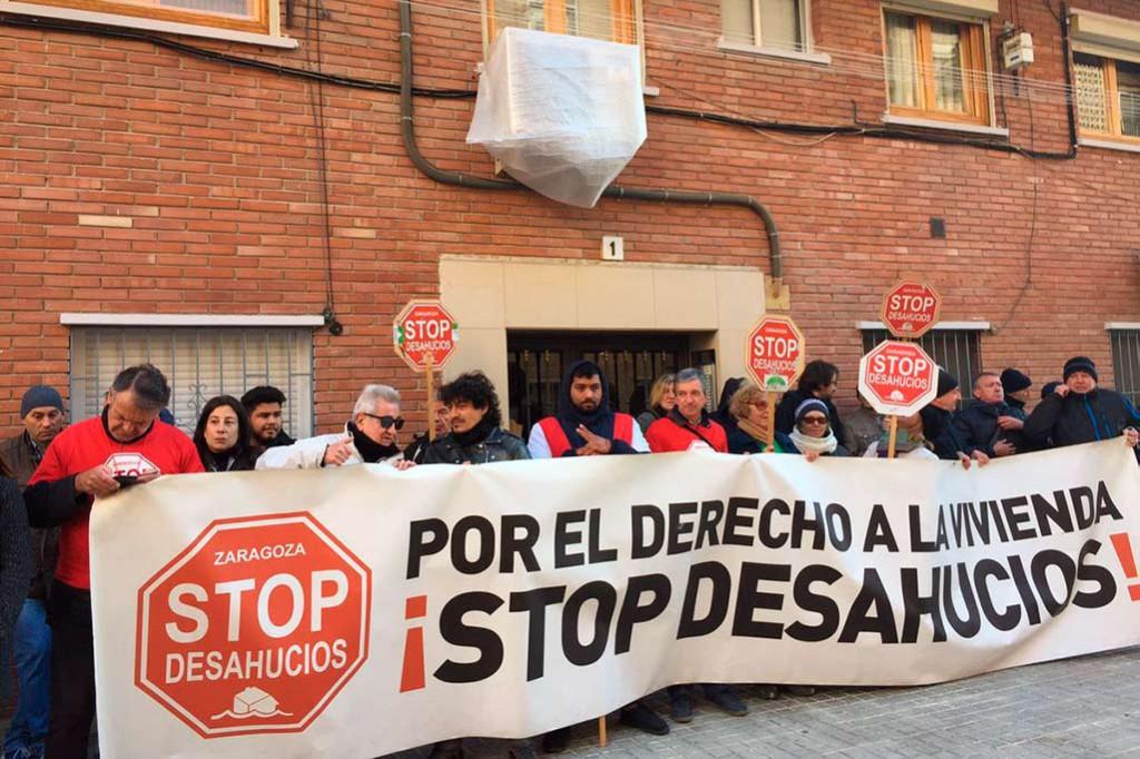 'Ibercaja, el banco del vamos a desahuciar', nueva campaña de Stop Desahucios Zaragoza