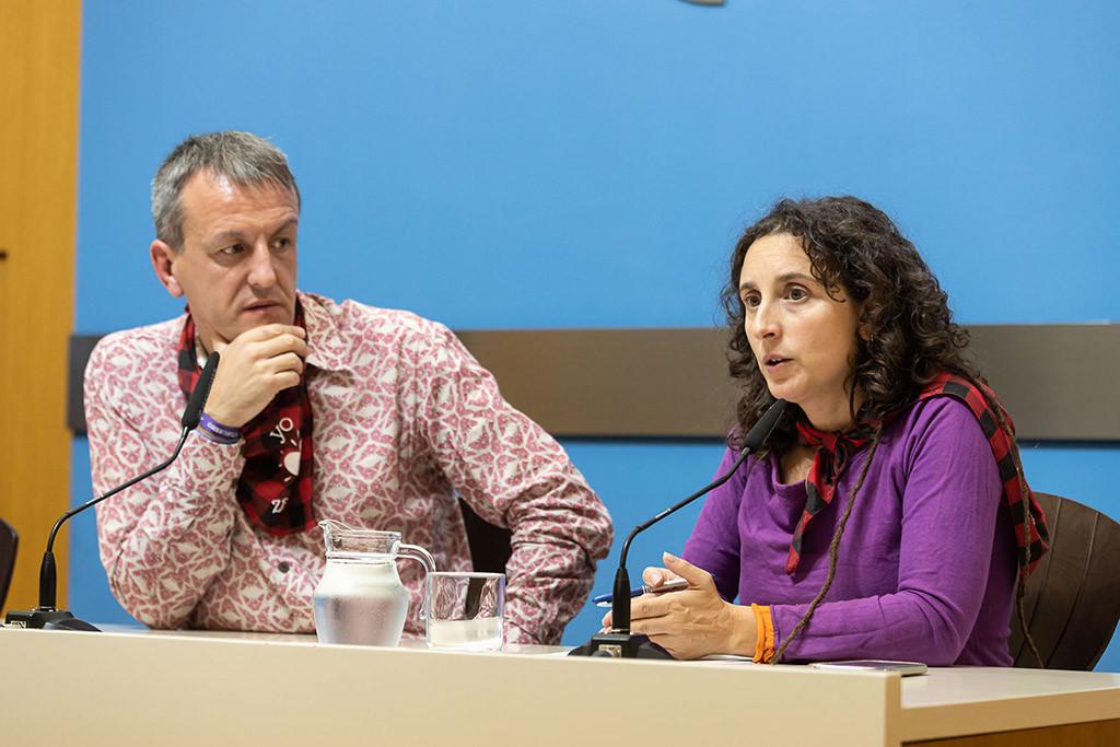 Gracia y Rivarés durante la rueda de prensa. Foto: Daniel Marcos (AZ)