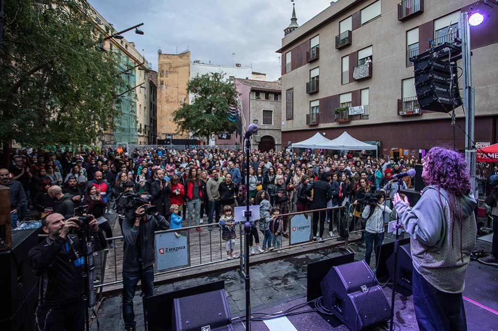 Convocados tres actos de denuncia por la agresión machista de este sábado en Zaragoza