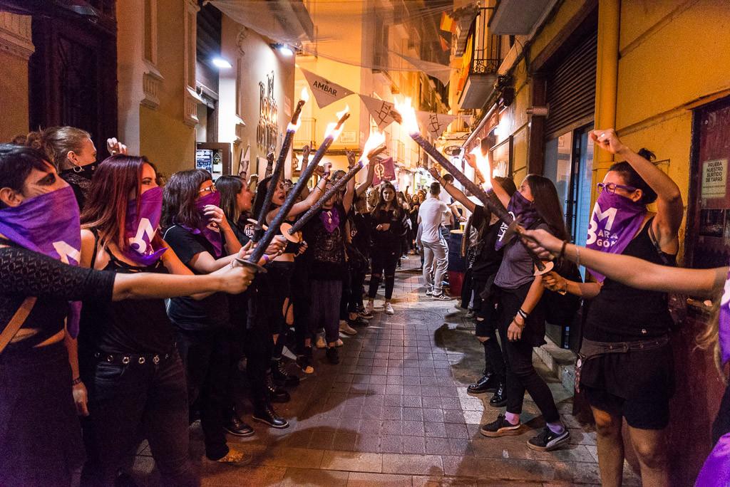 Marcha nocturna feminista. Foto: Pablo Ibáñez