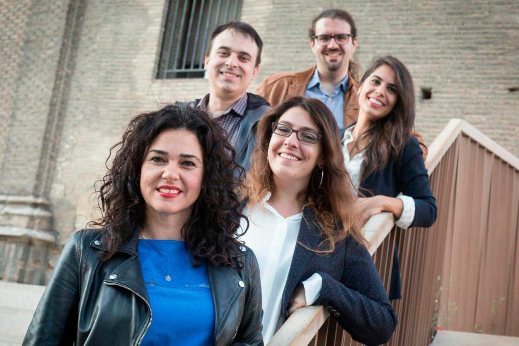 Erika Sanz e Itxaso Cabrera preinscriben sus candidaturas en las primarias de Podemos Aragón