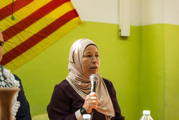 Nariman Tamimi, activista y madre de Ahed Tamimi. Foto: Pablo Ibáñez (AraInfo)