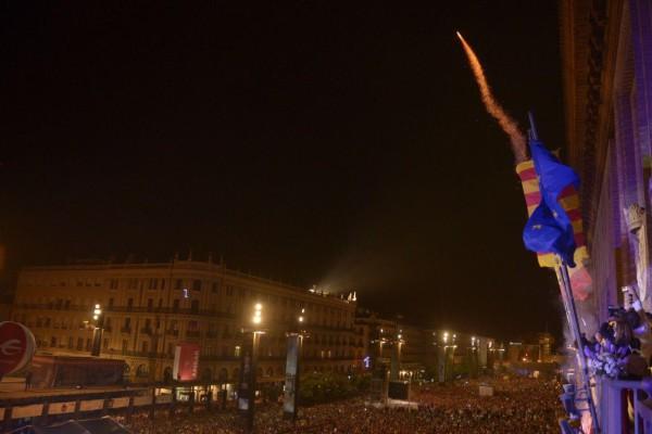 El cohete da inicio a las fiestas. Foto: Pablo Ibáñez (AraInfo)