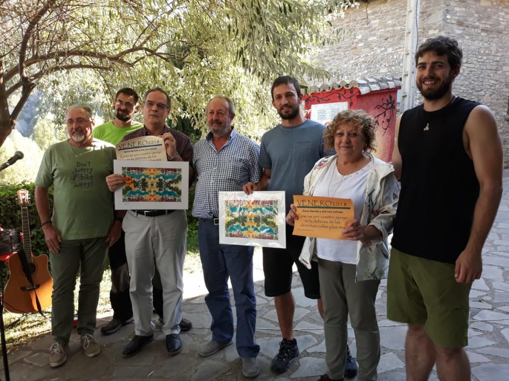 La Asociación Río Aragón premia la labor de los abogados de 'Los 8 de Yesa' y anuncia una marcha a la presa