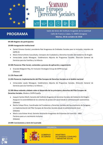 Programa Seminario Pilar Europeo DDSS_Zaragoza