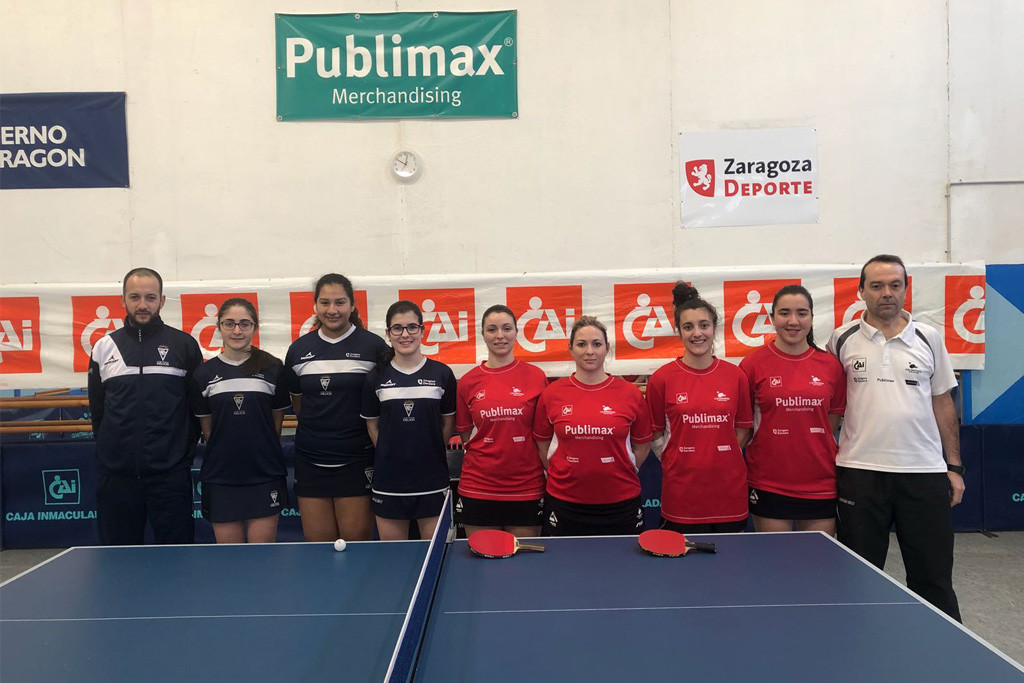 Comienza la Primera División Estatal femenina de Tenis de Mesa con tres equipos aragoneses