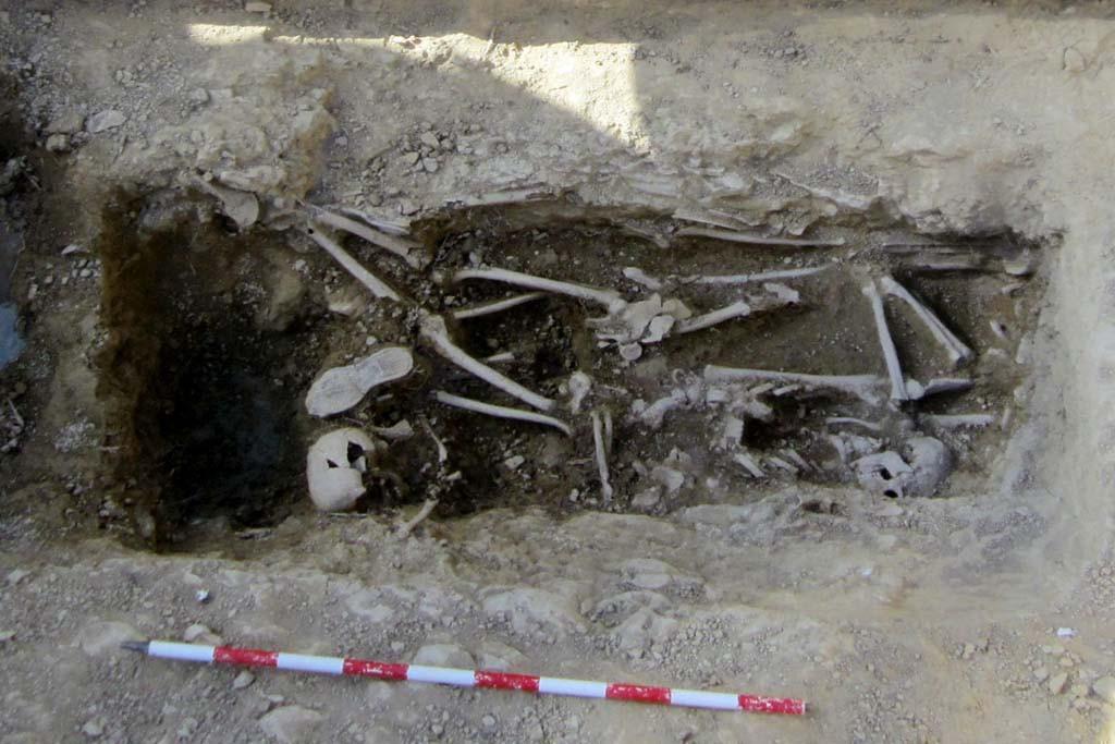 Exhumados en Biscarrués los restos de cuatro mujeres represaliadas por el franquismo