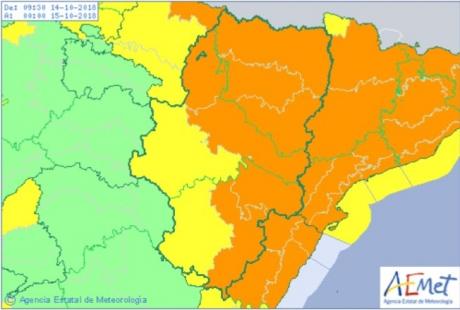 Activada la fase de alerta del Plan Territorial de Protección Civil por la influencia del huracán Leslie en Aragón