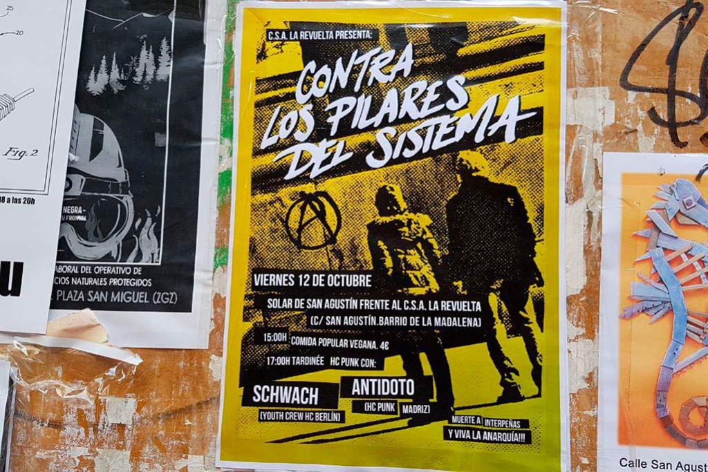 Contra los Pilares del Sistema prepara una tardineé de hardcore punk