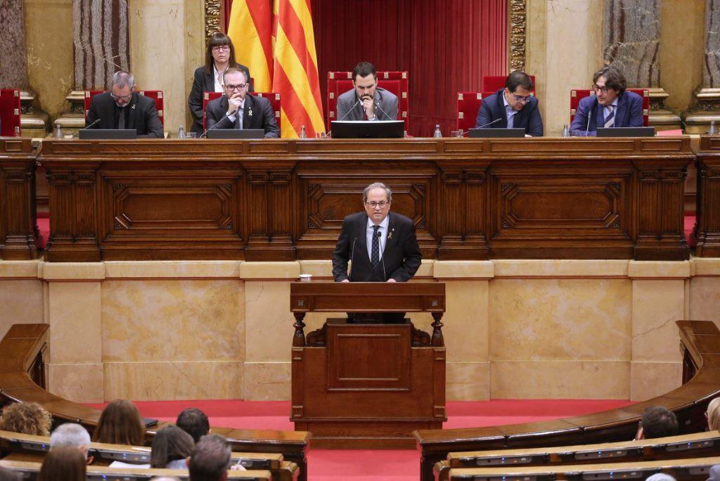 Torra da un ultimátum a Pedro Sánchez: O autodeterminación o fin del corto gobierno del PSOE