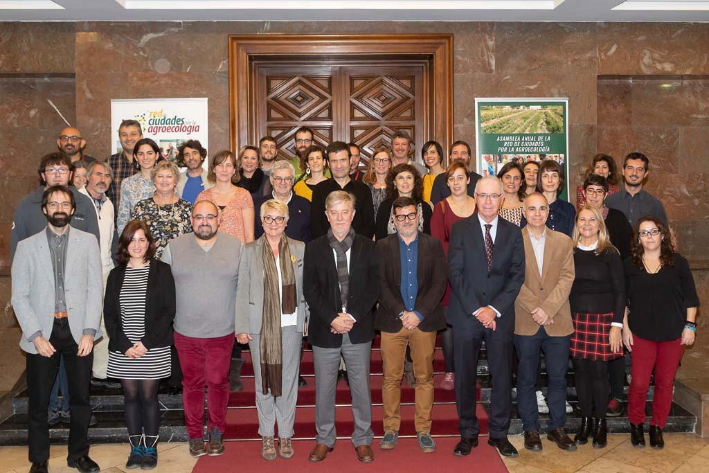 """Santisteve subraya """"la necesidad de establecer estrategias conjuntas» en la Red de Ciudades por la Agroecología"""