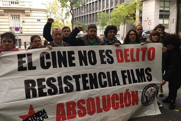 Marchas Aragón ante el 'juicio-farsa' a Resistencia Films