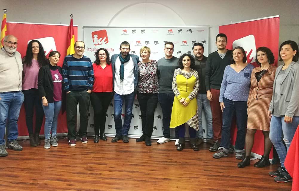 IU Aragón presenta una candidatura de unidad a las Cortes de Aragón