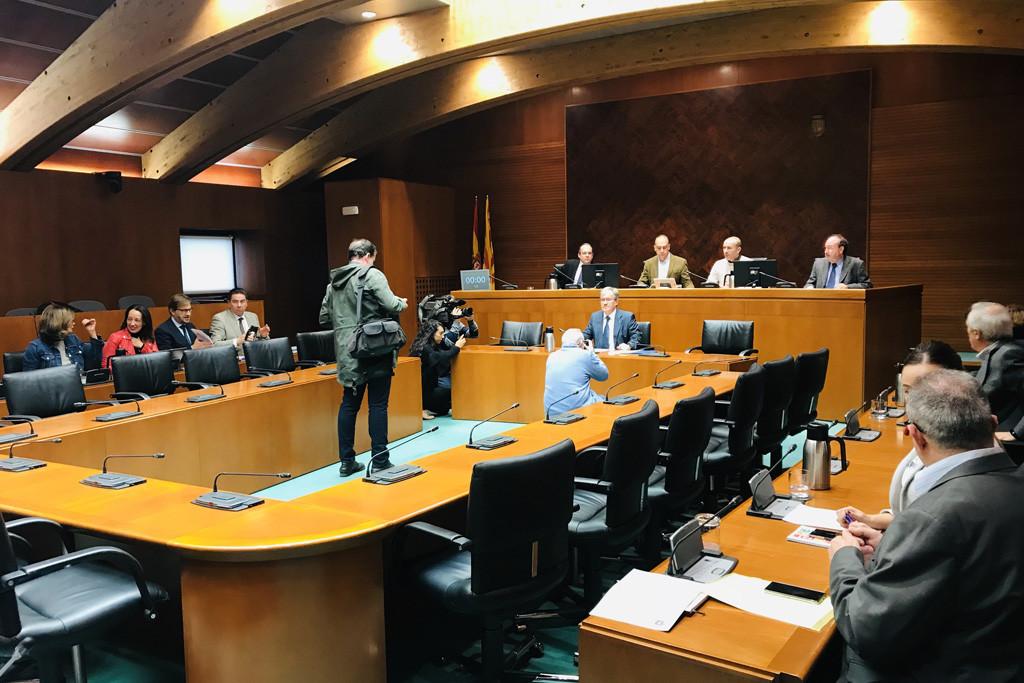 El Chusticia presenta en las Cortes su objetivo para acoger la Defensoría del Menor en su Institución