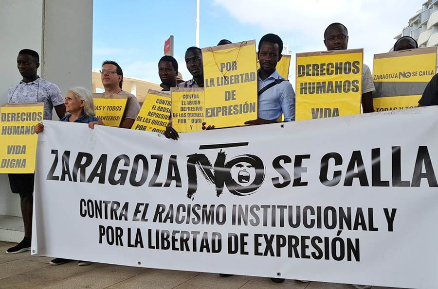 #ZaragozaNoseCalla en la Cincomarzada