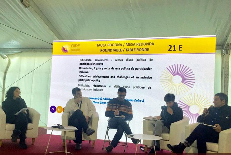 Elena Giner interviene en Barcelona en la 18 Conferencia del Observatorio Internacional de la Democracia Participativa