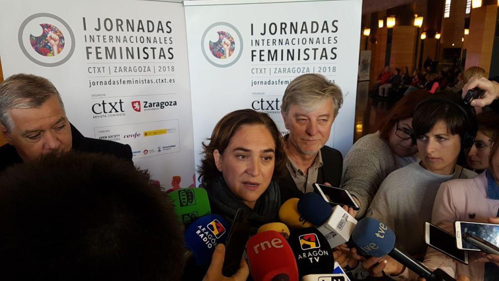 """Ada Colau: """"El municipalismo transformador es una construcción feminista que lucha contra las desigualdades sociales"""""""