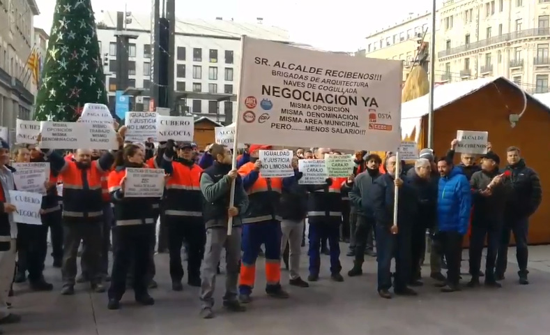 La Junta de Personal acusa al alcalde de Zaragoza de «conducta antisindical»