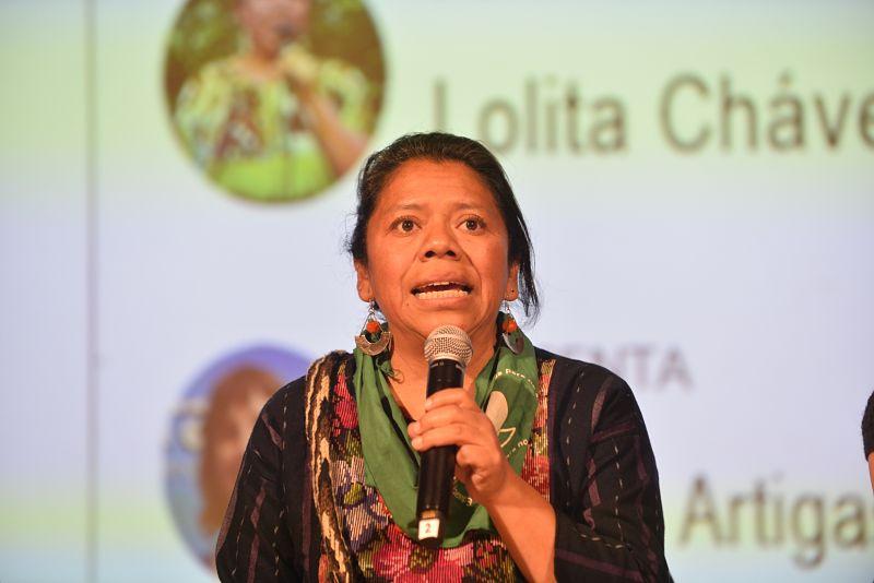 Lolita Chávez interpela al feminismo europeo: «Luchemos juntas para que las mujeres sean libres en todos los territorios»