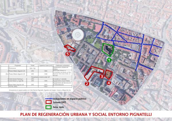 Mapa Plan de Regeneración Entorno Pignatelli