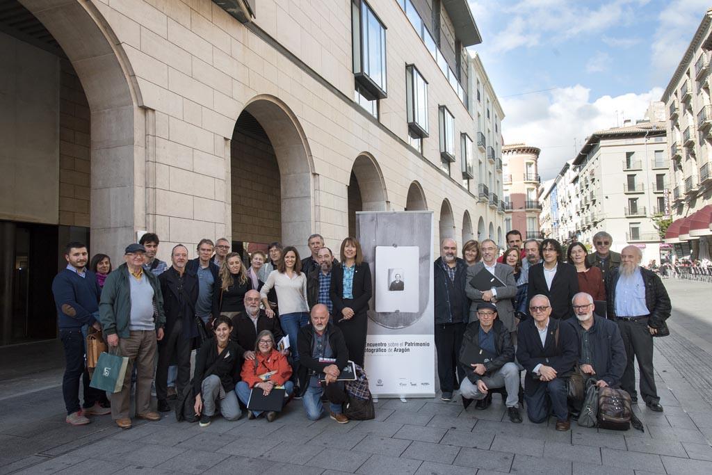Participantes en el Encuentro del Patrimonio Fotográfico de Aragón. Foto: Javier Blasco | DPH