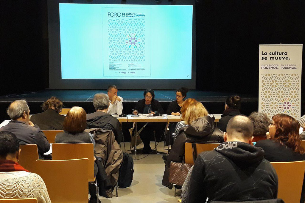 Podemos Aragón defiende la cultura como sector social estratégico