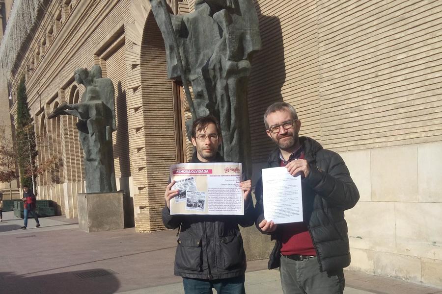 Puyalón solicita la colocación de una placa en recuerdo a las trabajadoras y trabajadores muertos en el incendio de Tapicerías Bonafonte