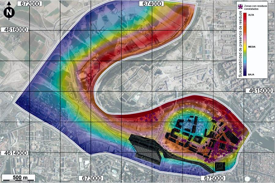 Evaluación de la posible extensión de residuos industriales en La Almozara. Fuente: Vecinales.