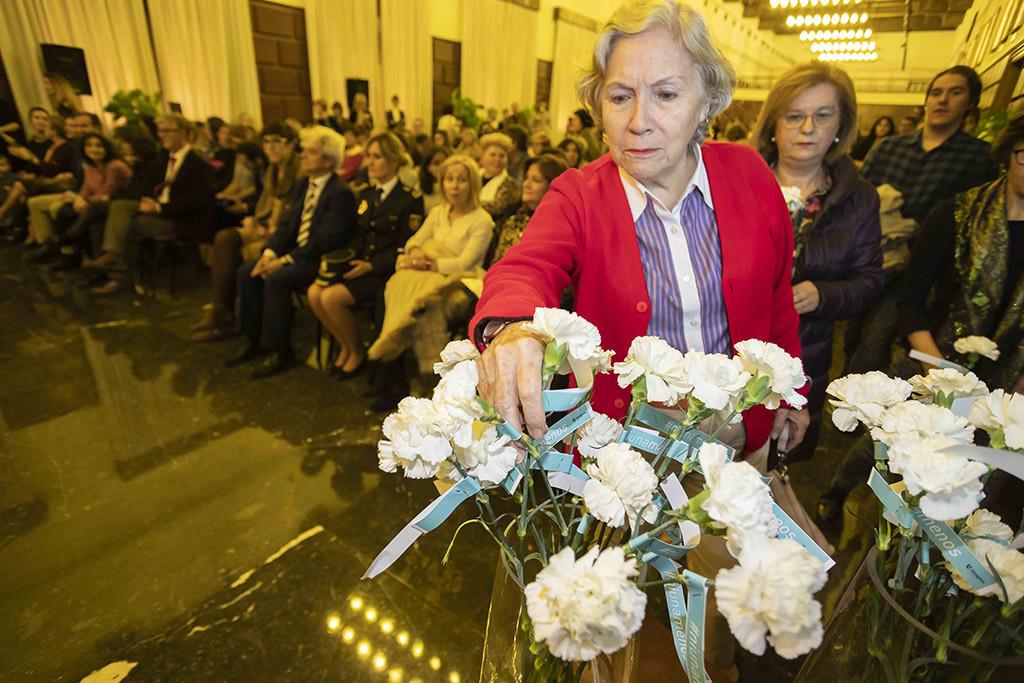 Homenaje a todas las mujeres que luchan por salir de la violencia y a las 103 asesinadas. Foto: Daniel Marcos