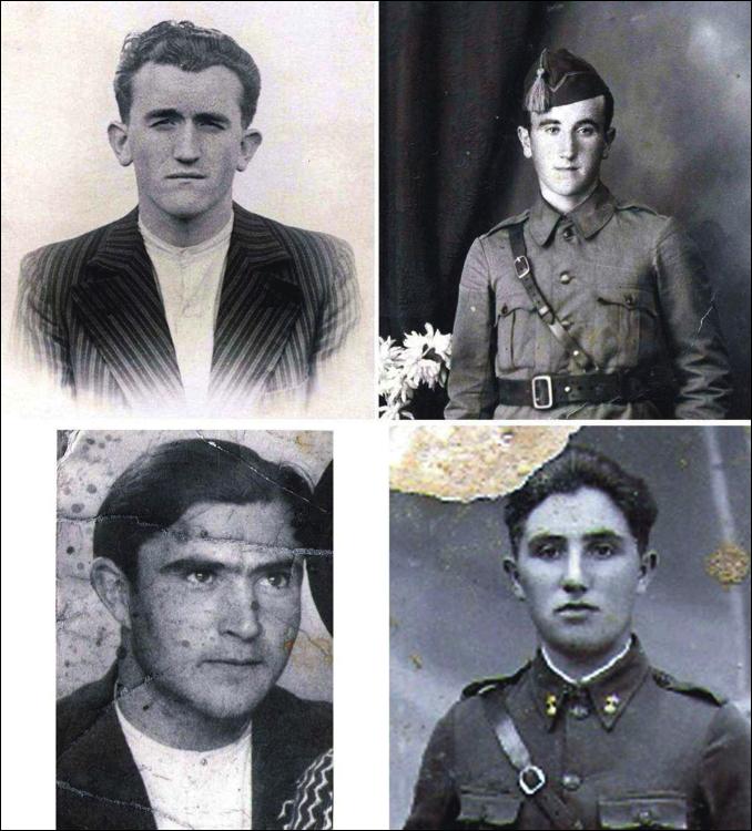 Martín y Francisco Cortés Lasilla, Mariano Rebla Alegre y Luis Torrea Rived