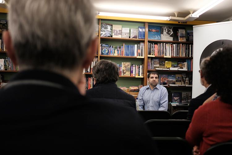 Presentación en Cálamo del libro de Roberto Valencia. Foto: Tomeu Mesquida.