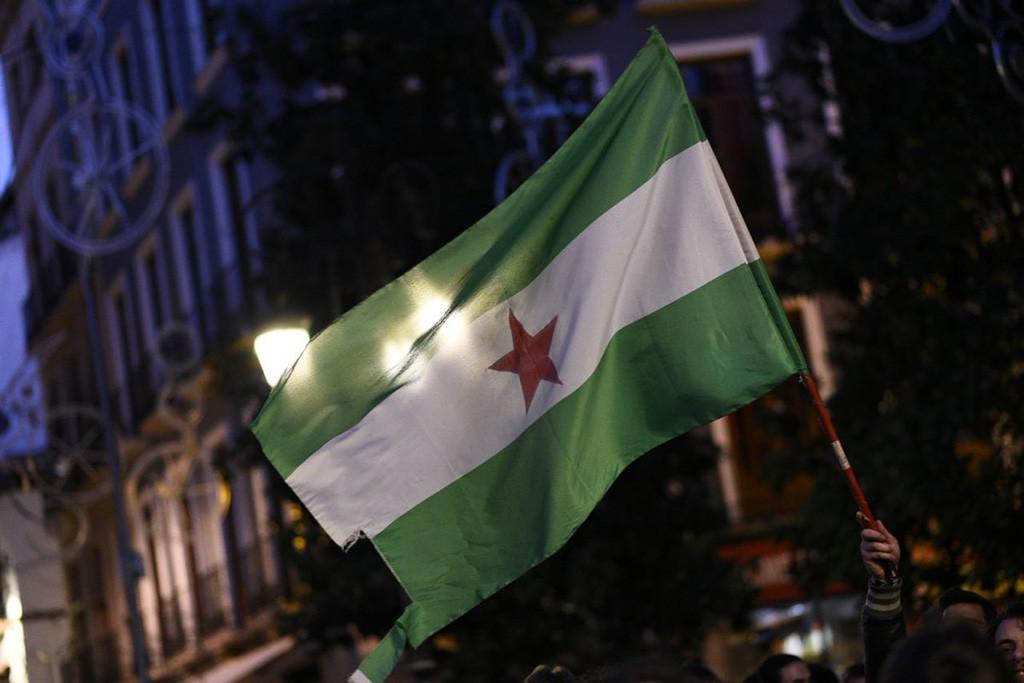 Segunda jornada de movilizaciones antifascistas en el Día Nacional de Andalucía