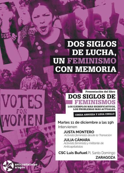 (Anticapitalistas Aragón) Charla Dos siglos de lucha, un feminismo con memoria
