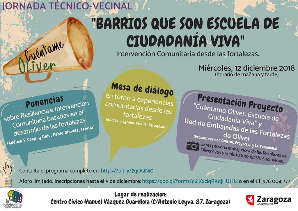 La Bezindalla organiza una Jornada final del proyecto 'Cuéntame Oliver: barrios que son escuela de ciudadanía viva'