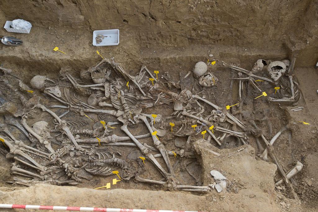 Las labores de localización en el cementerio de Sádaba dan como resultado la exhumación de Martín Cortés Lasilla y otras 18 personas