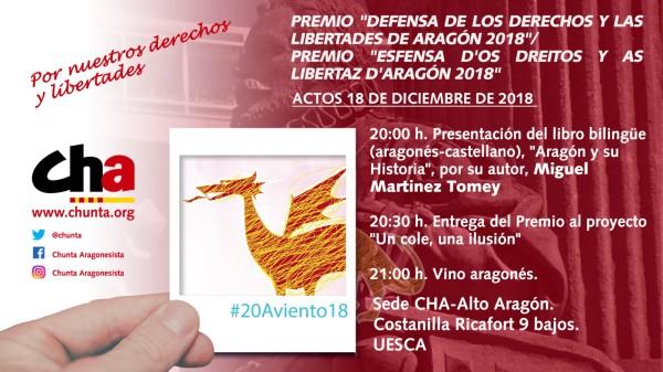 """""""Premio a la Defensa de los derechos y libertades de Aragón"""""""