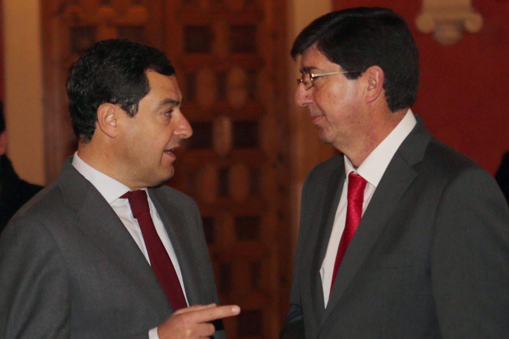 PP y Ciudadanos cierran un acuerdo para gobernar Andalucía y acuerdan sus primeras 23 medidas