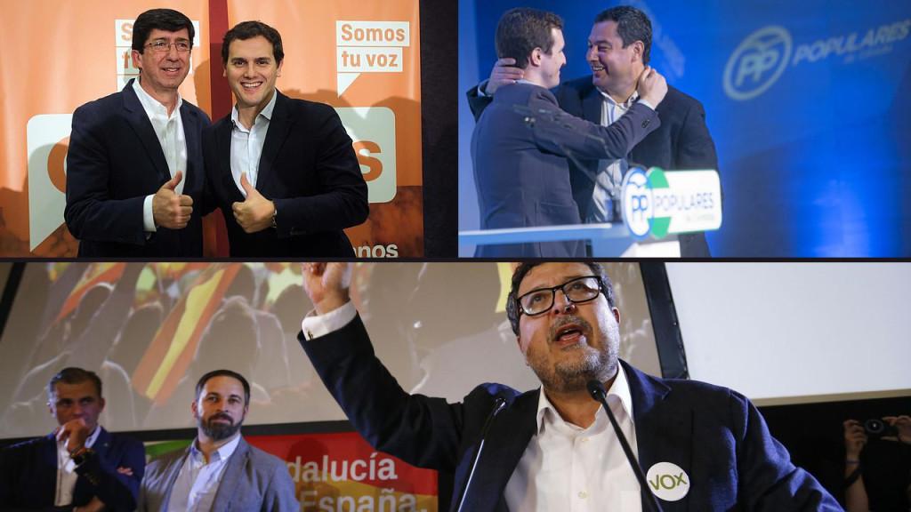 PP y Cs cierran un acuerdo con el ultraderechista Vox para el Parlamento de Andalucía